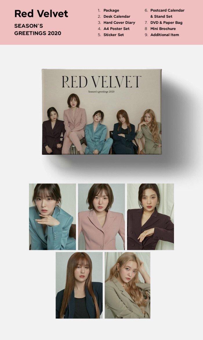 [Red Velvet][分享]191031 RV 2020年官方台历预览公开,11月1日预售