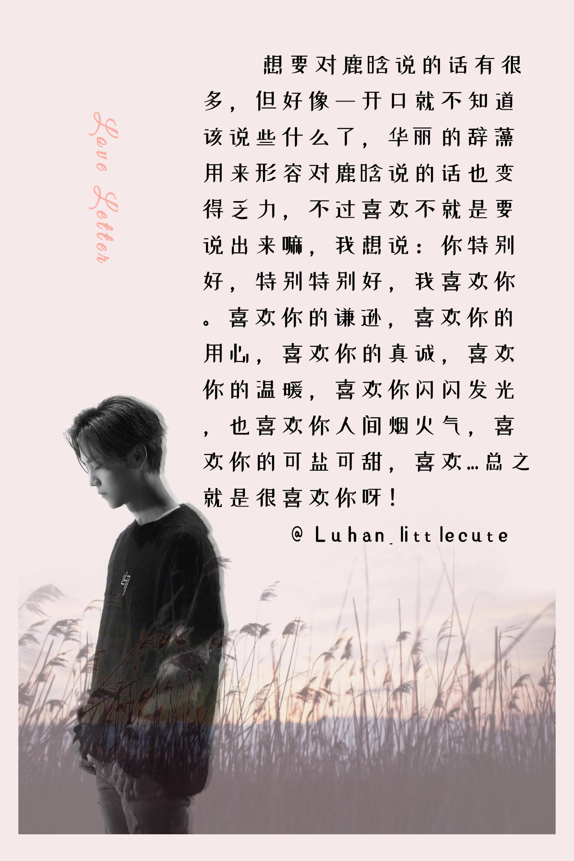 [分享]200219 小芦们写给鹿晗的一封封情书 关于你的一点一滴都能成为专属